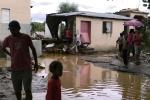 Calle de un barrio de Sabana Yegua durante del ciclón Sandy. Sabana Yegua, República Dominicana.